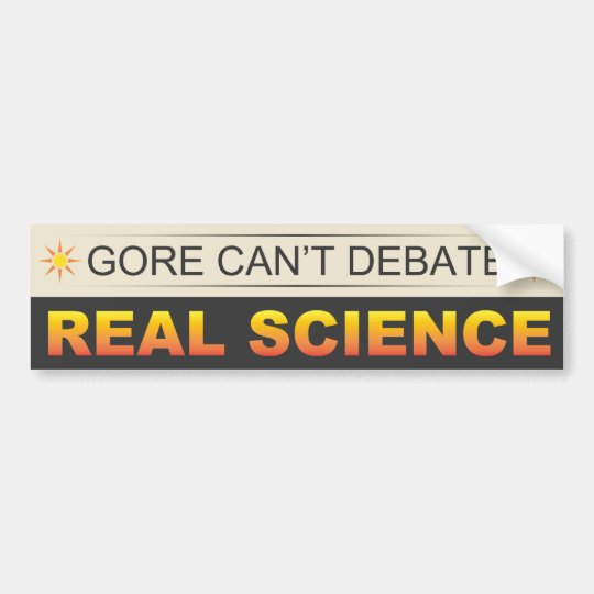 Real Science Bumper Sticker