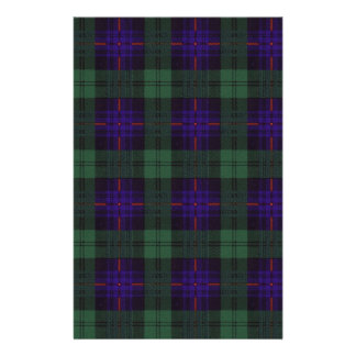 Real Scottish tartan - Armstrong - Drawn by Nekoni Stationery Paper