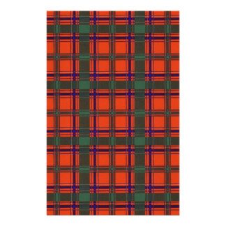 Real Scottish tartan - Dalzell - Drawn by Nekoni Personalized Stationery