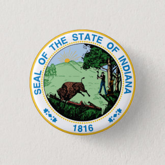 Real State Seal 1 Inch Round Button