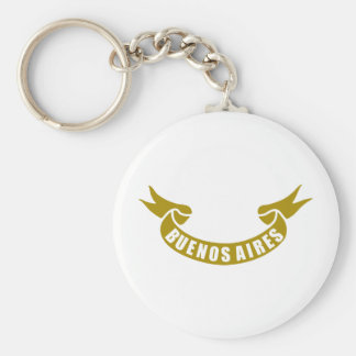 real-tape-Buenos-Aires Basic Round Button Keychain