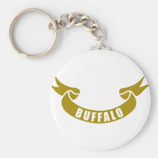 real-tape-Buffalo Basic Round Button Keychain