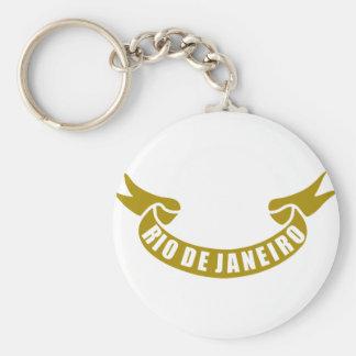 real-tape-Rio-De-Janeiro Basic Round Button Keychain