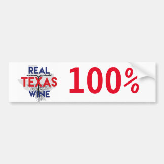 Real Texas Wine Bumper Sticker