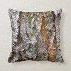 Real Tree Bark Texture Throw Pillow