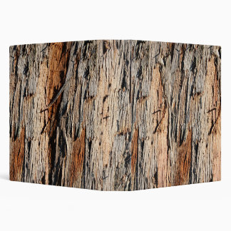 Real Tree Bark Wood Binder