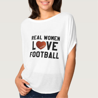 Real Woman Love Football Flowy Top T Shirts