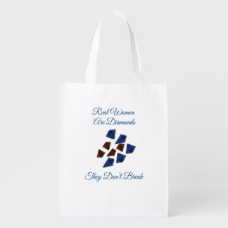 Real Women Are Diamonds Reusable Grocery Bag