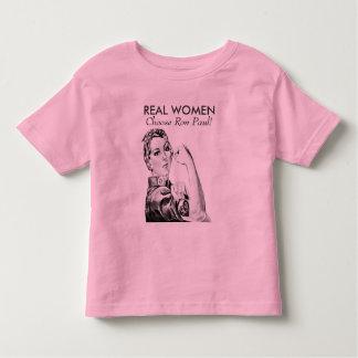 Real Women Choose Ron Paul Baby Toddler T-shirt