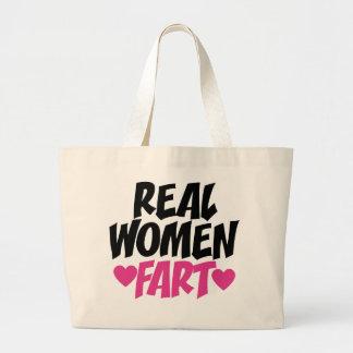 Real Women Fart Jumbo Tote Bag