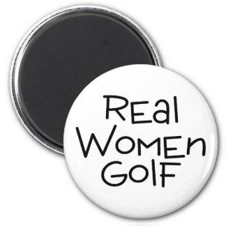 Real Women Golf 2 Inch Round Magnet