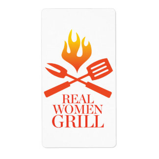 Real Women Grill Shipping Label