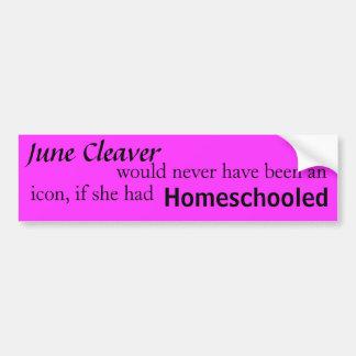 Real women homeschool car bumper sticker