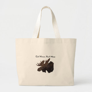 Real Women Hunt Moose Large Tote Bag