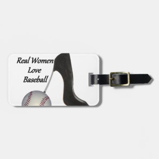 Real Women Love Baseball Luggage Tag