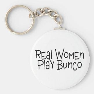 Real Women Play Bunco Keychain