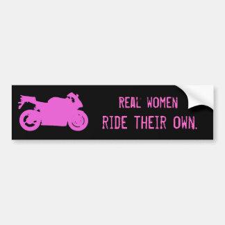 Real Women Ride Bumper Sticker Car Bumper Sticker