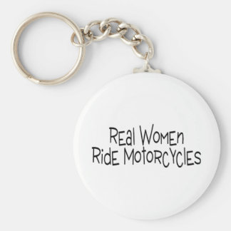 Real Women Ride Motorcycles Keychain
