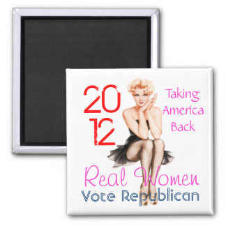 Real Women Square Magnet