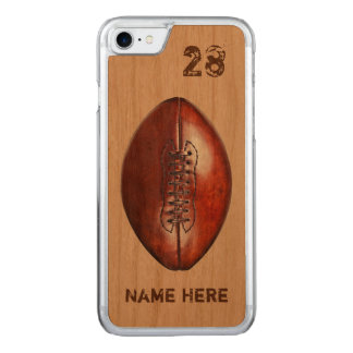 Real Wood Phone Football Cases, PERSONALIZED Carved iPhone 8/7 Case