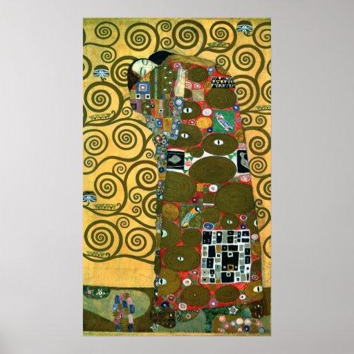 Réalisation (l'étreinte) par Gustav Klimt Posters