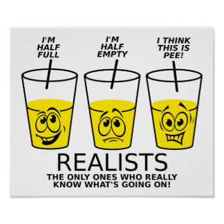 Realist Cup Funny Poster