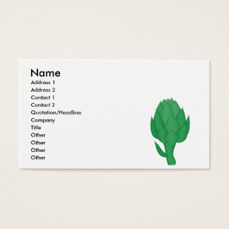 realistic artichoke business card