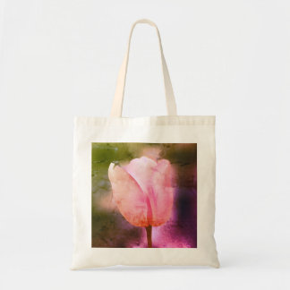 Realistic bright tulip Throw Pillow