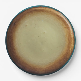 Realistic Cheesecake Paper Plate 9 Inch Paper Plate