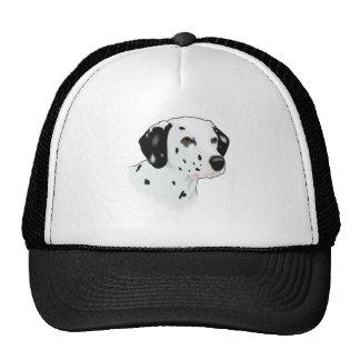 Realistic Dalmatian Dog Face Mesh Hats