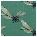 Realistic Dragonfly Polyester Poplin Fabric