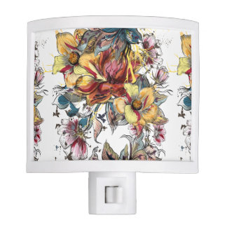 Realistic drawn Floral bouquet pattern Nite Lite