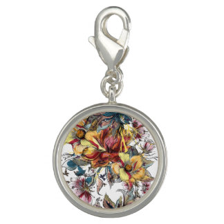 Realistic drawn Floral bouquet pattern Photo Charms