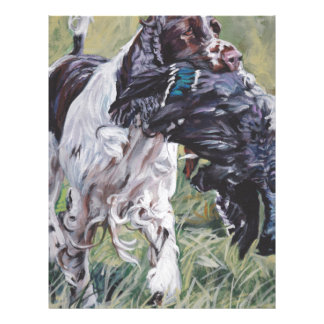 realistic English Springer Dog Fine Art Painting Letterhead