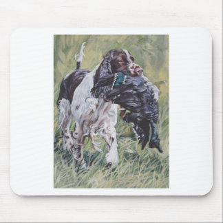 realistic English Springer Dog Fine Art Painting Mouse Pad