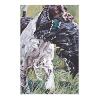 realistic English Springer Dog Fine Art Painting Stationery