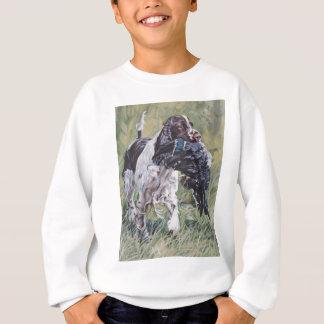 realistic English Springer Dog Fine Art Painting Sweatshirt