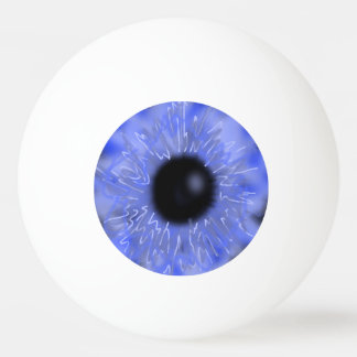 Realistic Eyeball Ping Pong Ball Blue SFX Scary