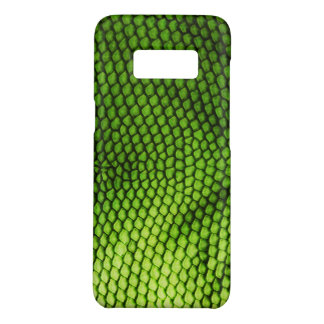 Realistic Faux Iquana Scales Green Animal Print Case-Mate Samsung Galaxy S8 Case
