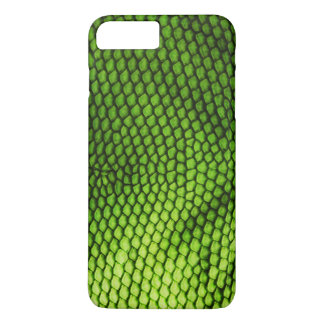 Realistic Faux Iquana Scales Green Animal Print iPhone 8 Plus/7 Plus Case