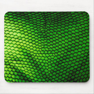 Realistic Faux Iquana Scales Green Animal Print Mouse Pad