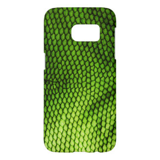 Realistic Faux Iquana Scales Green Animal Print Samsung Galaxy S7 Case