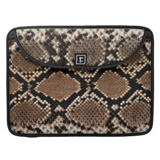 Realistic Faux Snake Skin Animal Print Sleeve For MacBooks