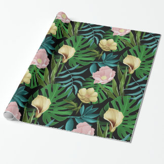 Realistic Flowers Pattern #1 Wrapping Paper
