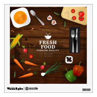 Realistic Fresh Food Design Wall Decal