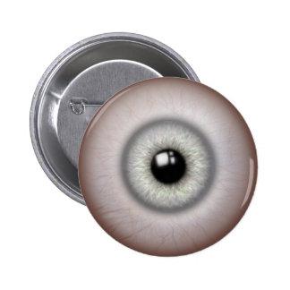 Realistic Gray Iris Eyeball Button