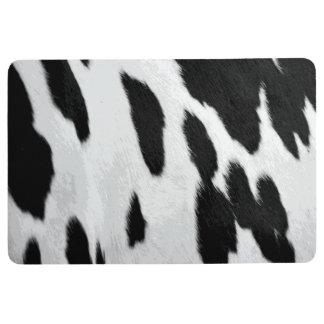 Realistic Holstein cow Hide Look Floor Mat