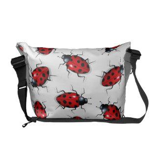 Realistic Ladybugs, Ladybirds: Original Art Commuter Bag