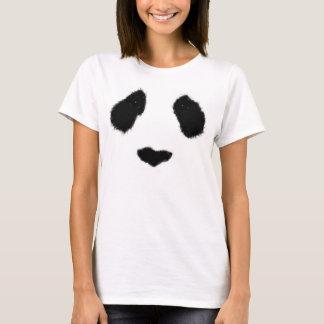 Realistic panda face tee