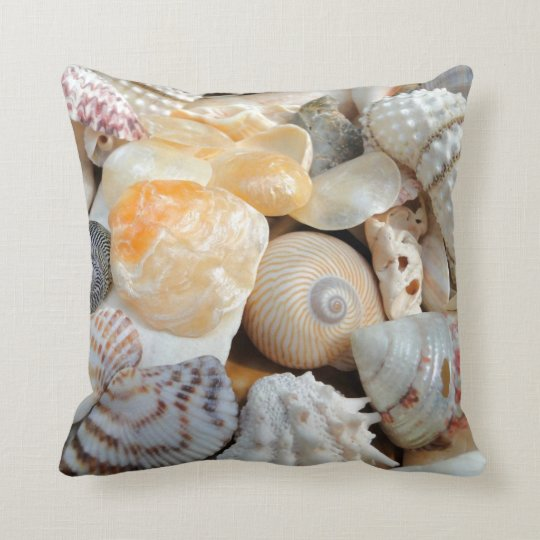 Realistic Seashells Decorative Throw Pillow
